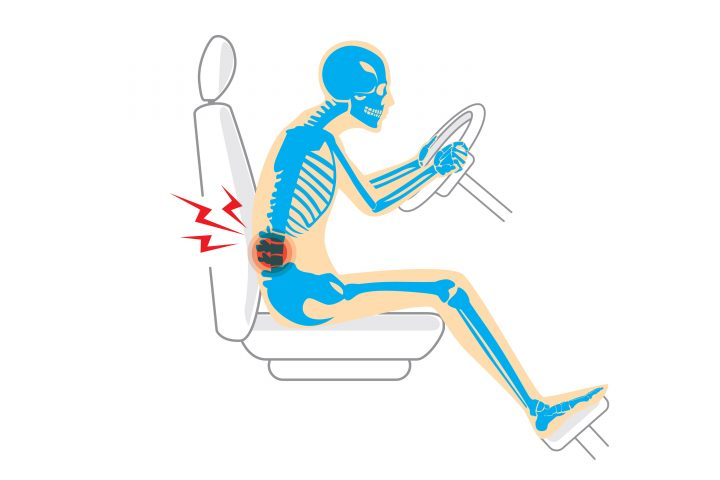 back care advice when driving from our bournemouth chiropractor